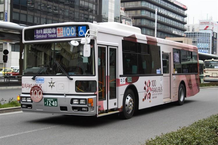 京都市バス 京都200か1240 いすゞPJ-LV234N1