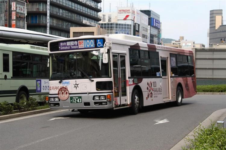 京都市バス 京都200か1243 いすゞPJ-LV234N1