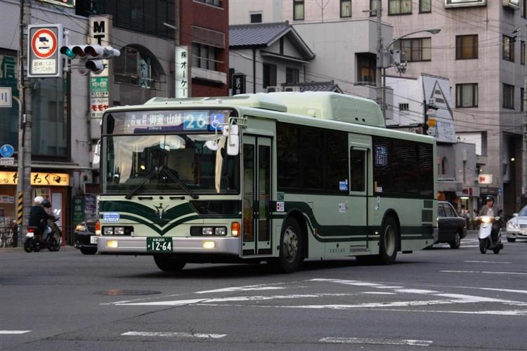 京都市バス 京都200か1264 三菱KL-MP37JK改(CNG車輌)