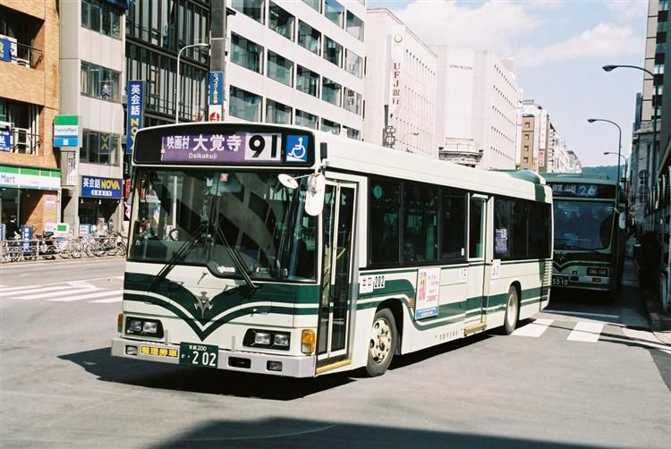 京都市交通局 京都200か・202 日野KL-HR1JNEE