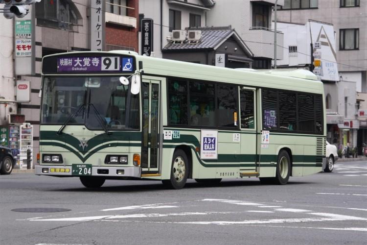 京都市交通局 京都200か・204 日野KL-HR1JNEE