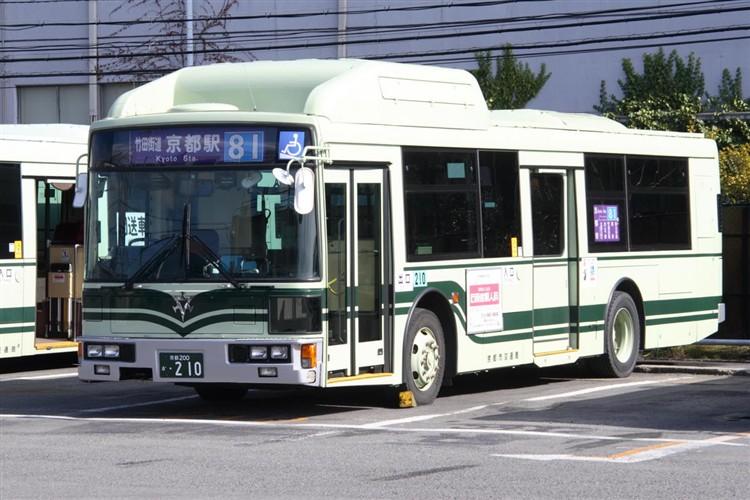 京都市交通局 京都200か・210 日デKL-UA272KAM改(CNG)