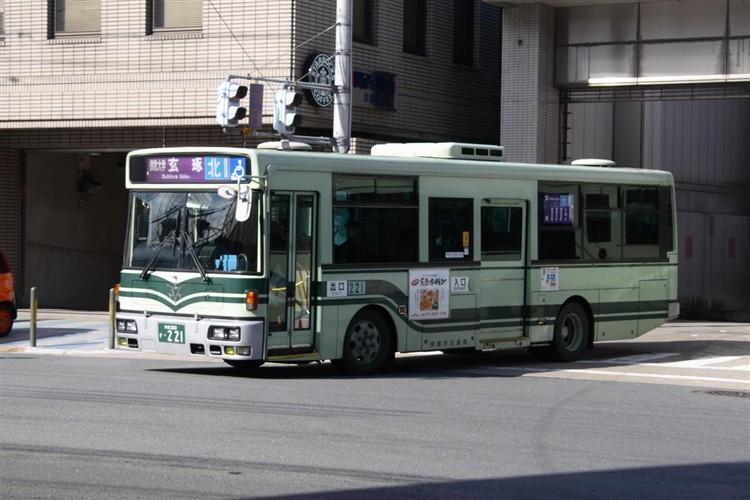 京都市交通局 京都200か・221 日デKK-RM252GAN