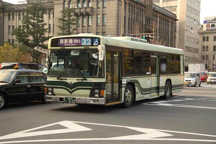 京都市交通局 京都200か・312 いすゞKL-LV834L1