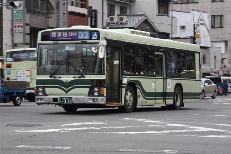 京都市交通局 京都200か・313 いすゞKL-LV834L1
