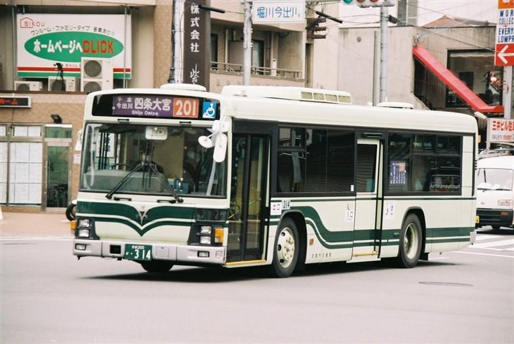 京都市交通局 京都200か・314 いすゞKL-LV834L1