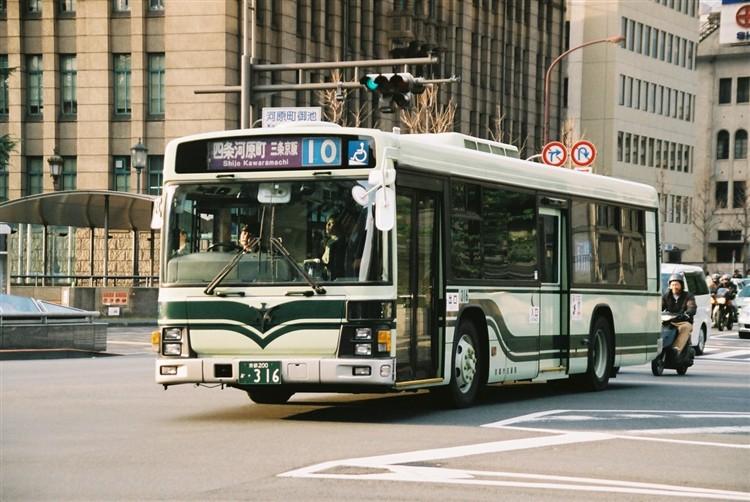 京都市交通局 京都200か・316 いすゞKL-LV834L1