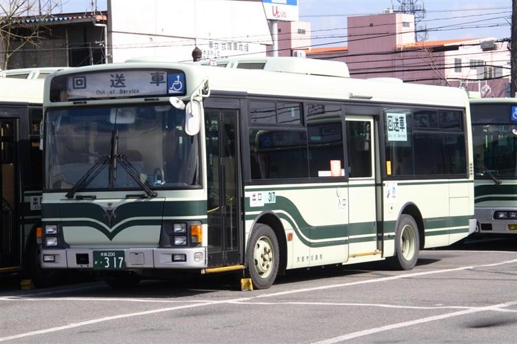 京都市交通局 京都200か・317 いすゞKK-LR233J1