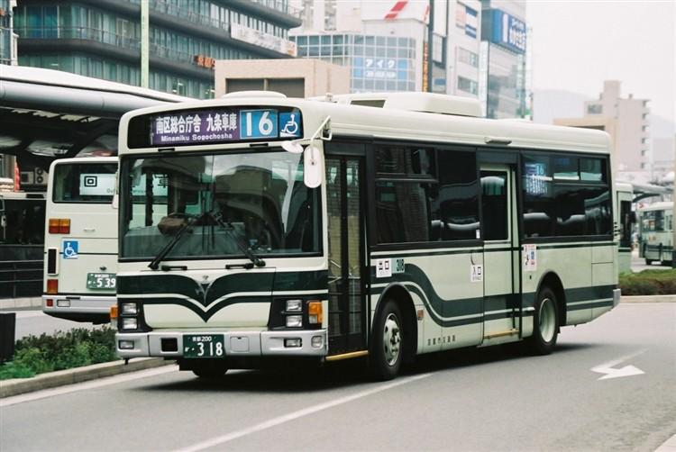京都市交通局 京都200か・318 いすゞKK-LR233J1