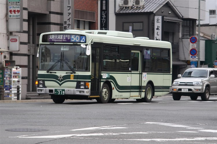 京都市交通局 京都200か・319 いすゞKK-LR233J1