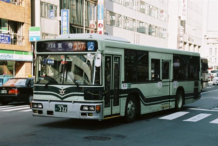 京都市交通局 京都200か・322 三菱KL-MP37JK