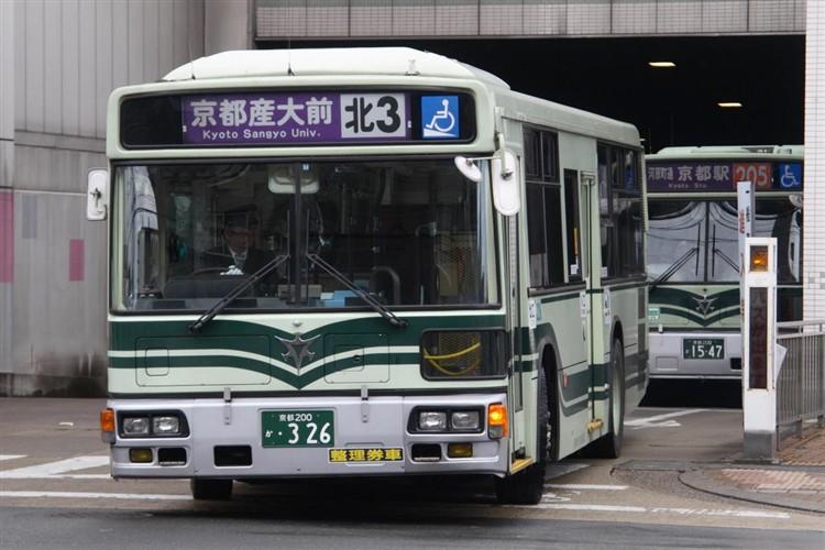 京都市交通局 京都200か・326 三菱KL-MP37JK