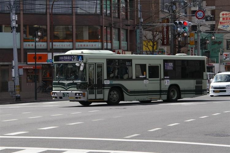 京都市交通局 京都200か・327 三菱KL-MP37JK