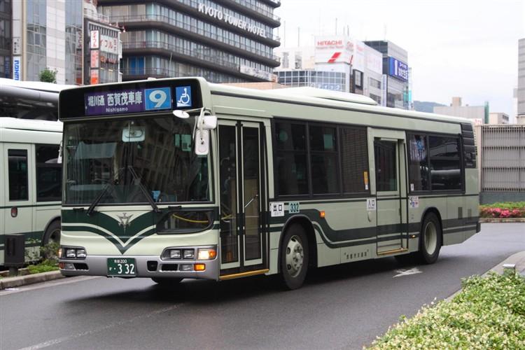 京都市交通局 京都200か・332 日野KL-HU2PMEE
