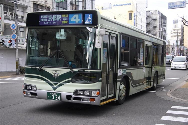 京都市交通局 京都200か・334 日野KL-HU2PMEE