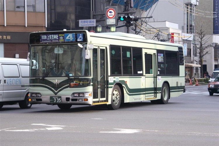 京都市交通局 京都200か・335 日野KL-HU2PMEE