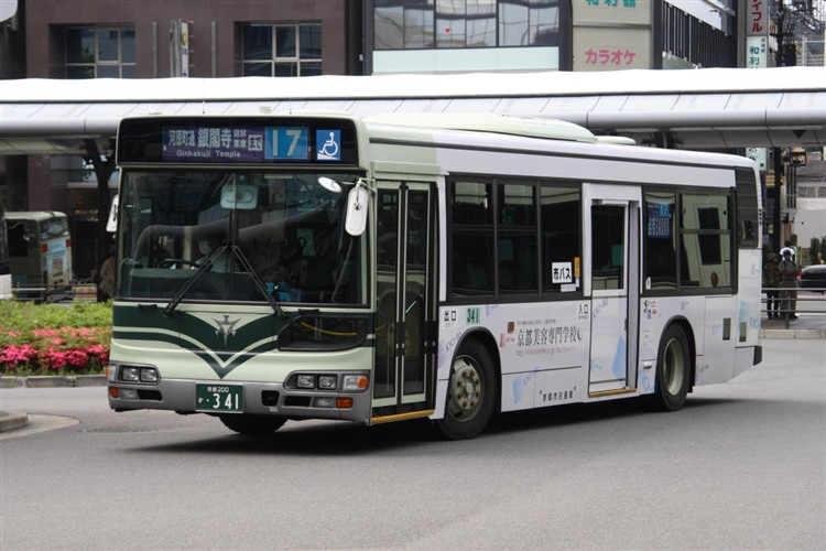 京都市交通局 京都200か・341 日野KL-HU2PMEE