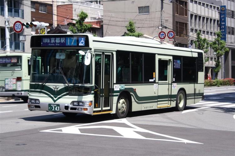 京都市交通局 京都200か・343 日野KL-HU2PMEE