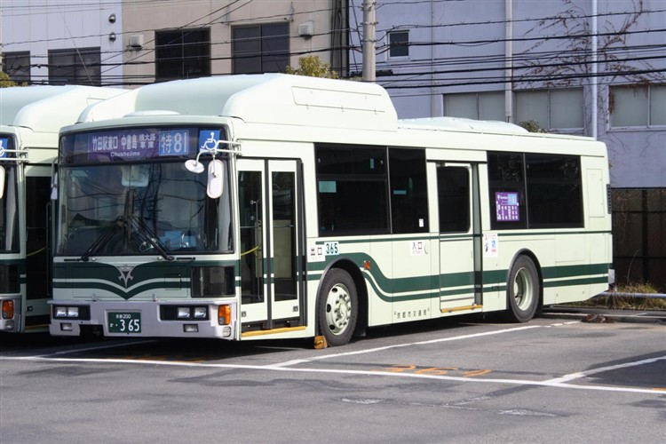 京都市交通局 京都200か・365 日デKL-UA272KAM改(CNG車両)