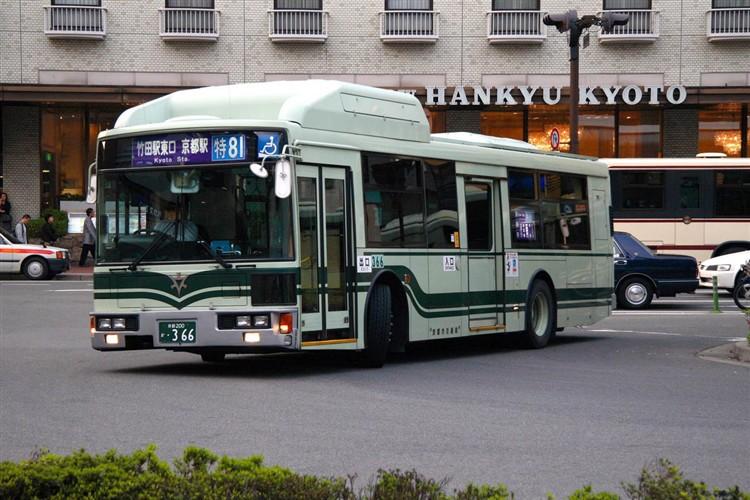 京都市交通局 京都200か・366 日デKL-UA272KAM改(CNG車両)