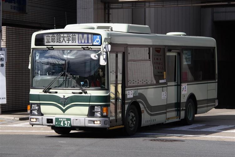京都市バス 京都200か・497 いすゞKK-LR233J1