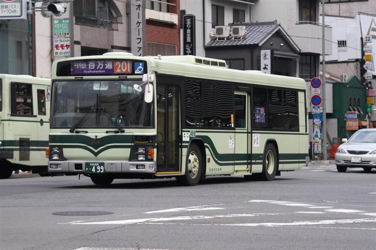 京都市バス 京都200か・499 いすゞKL-LV834L1