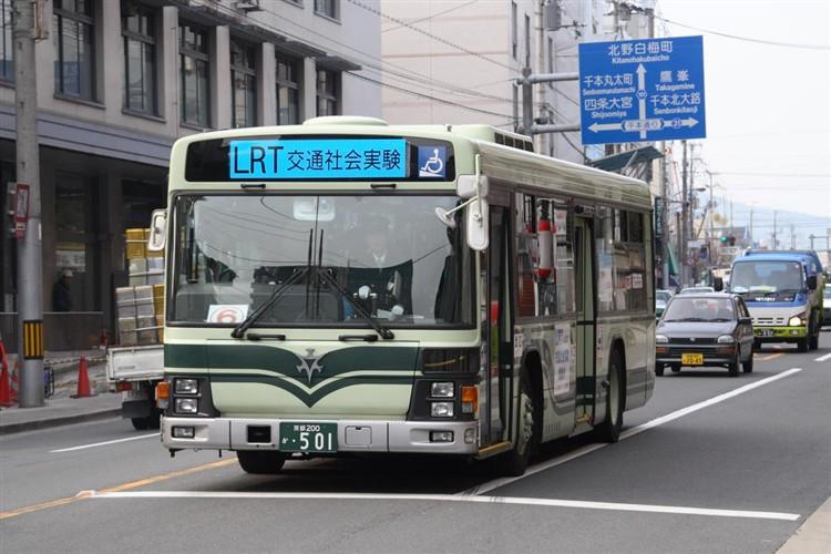 京都市バス 京都200か・501 いすゞKL-LV834L1