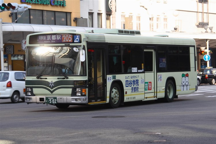 京都市バス 京都200か・502 いすゞKL-LV834L1