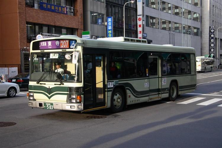 京都市バス 京都200か・503 いすゞKL-LV834L1