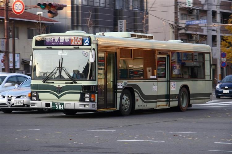 京都市バス 京都200か・504 いすゞKL-LV834L1