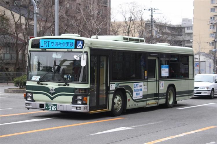 京都市バス 京都200か・505 いすゞKL-LV834L1