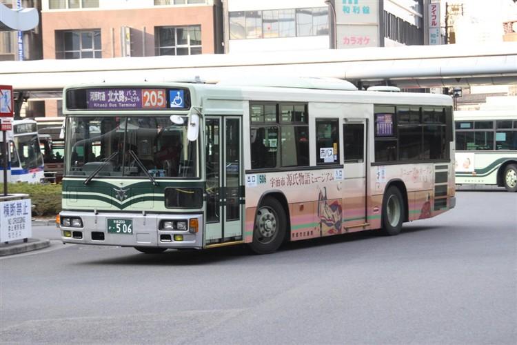 京都市バス 京都200か・506 三菱KL-MP37JK