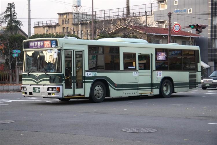 京都市バス 京都200か・507 三菱KL-MP37JK