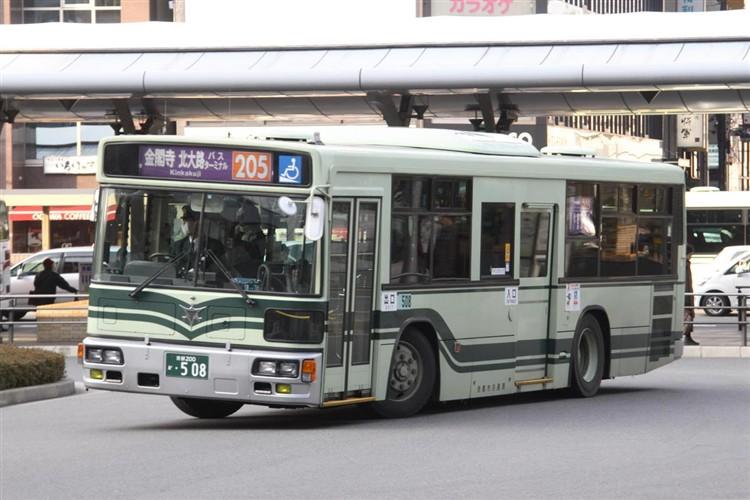 京都市バス 京都200か・508 三菱KL-MP37JK