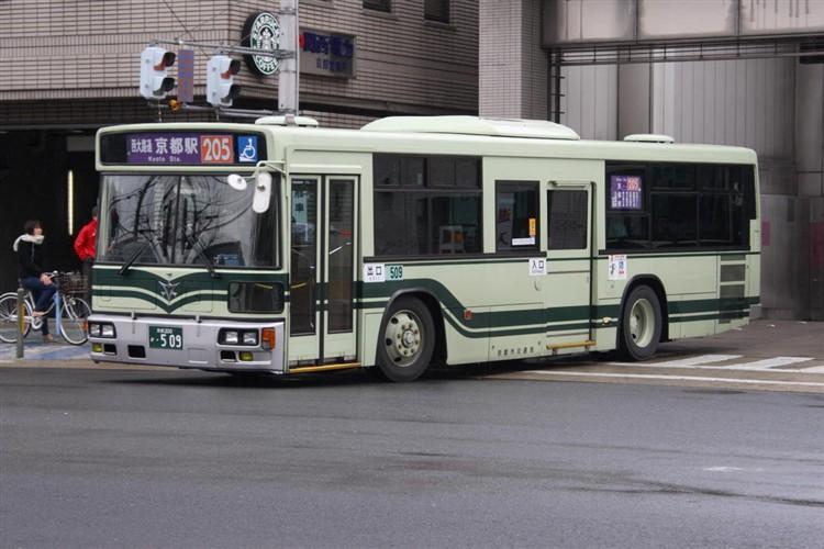 京都市バス 京都200か・509 三菱KL-MP37JK