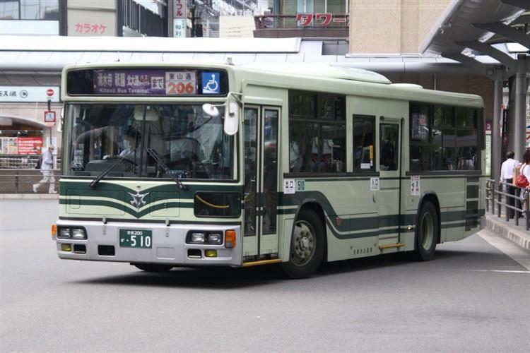 京都市バス 京都200か・510 三菱KL-MP37JK