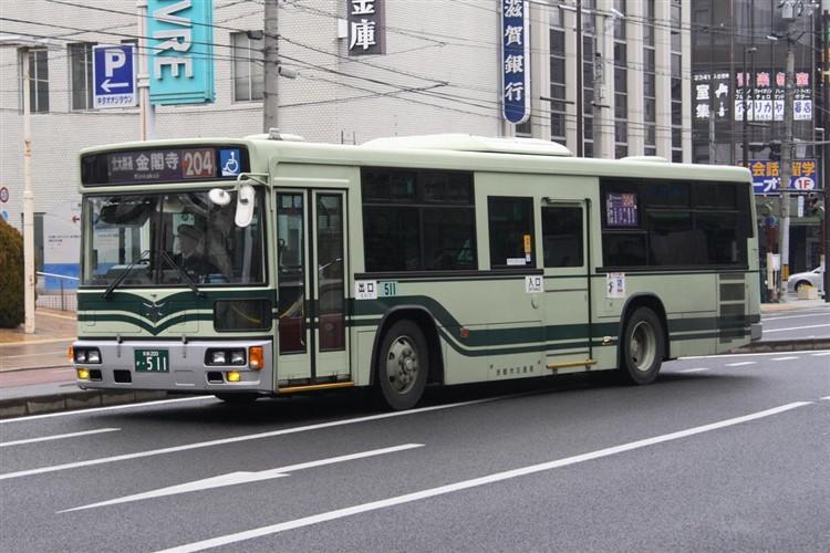 京都市バス 京都200か・511 三菱KL-MP37JK
