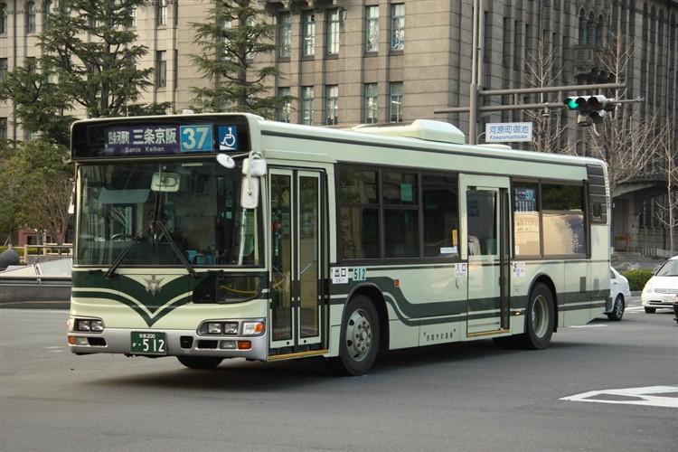 京都市バス 京都200か・512 日野KL-HU2PMEE