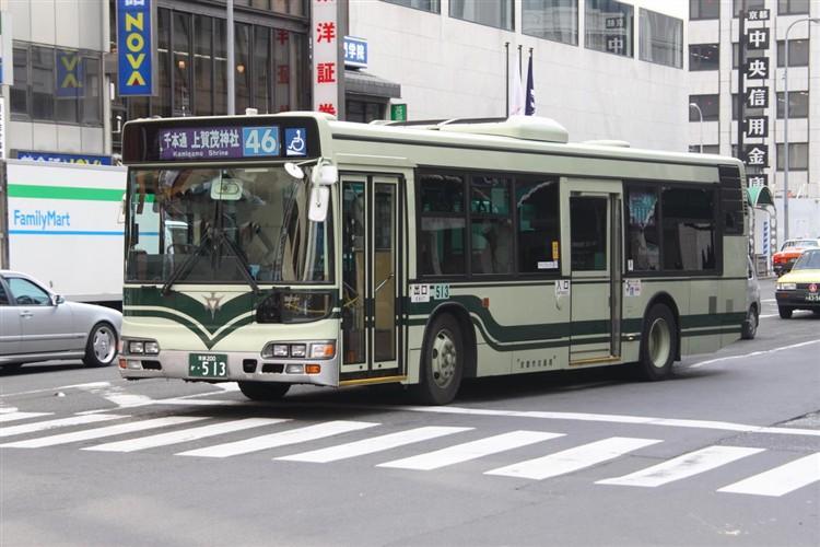 京都市バス 京都200か・513 日野KL-HU2PMEE
