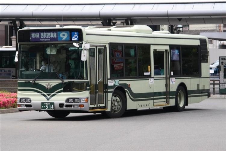 京都市バス 京都200か・514 日野KL-HU2PMEE