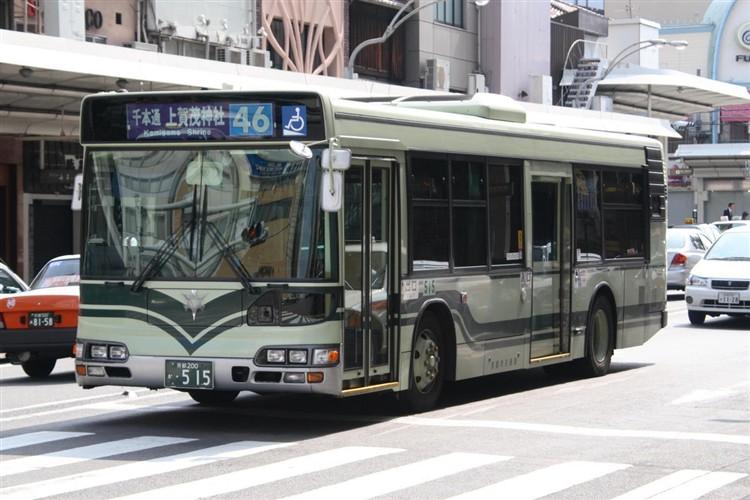 京都市バス 京都200か・515 日野KL-HU2PMEE
