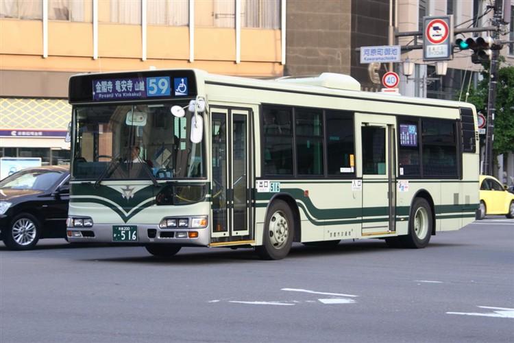 京都市バス 京都200か・516 日野KL-HU2PMEE