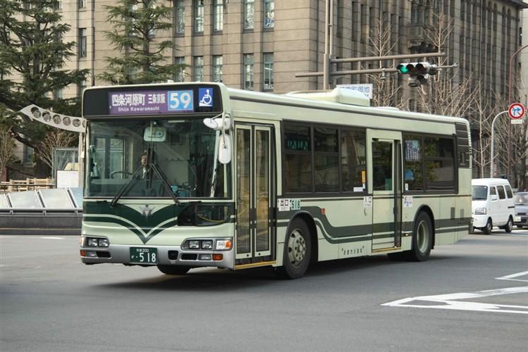 京都市バス 京都200か・518 日野KL-HU2PMEE