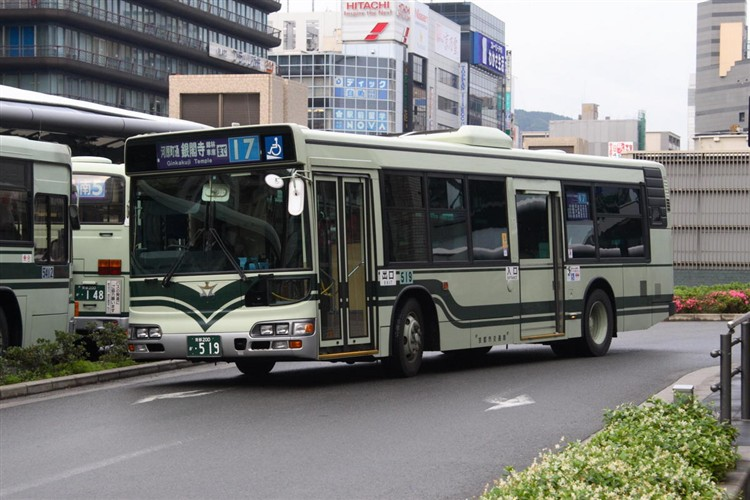 京都市バス 京都200か・519 日野KL-HU2PMEE