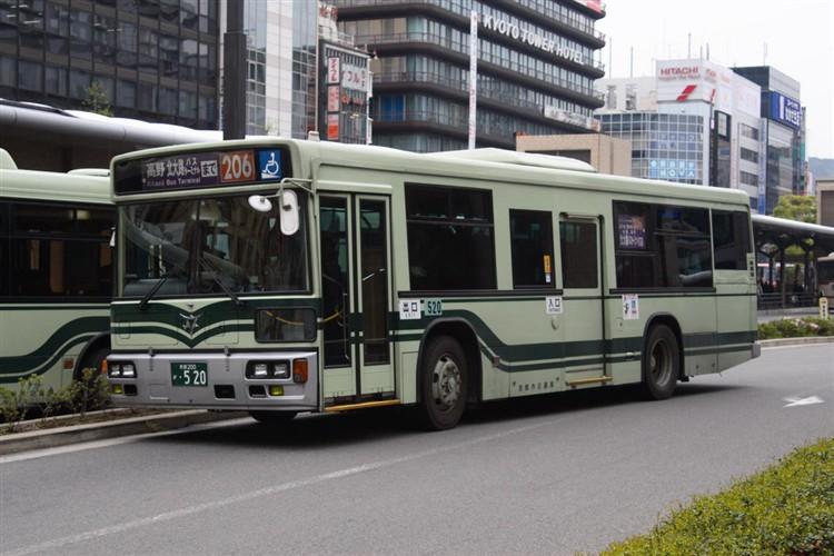 京都市バス 京都200か・520 日デKL-UA272KAM