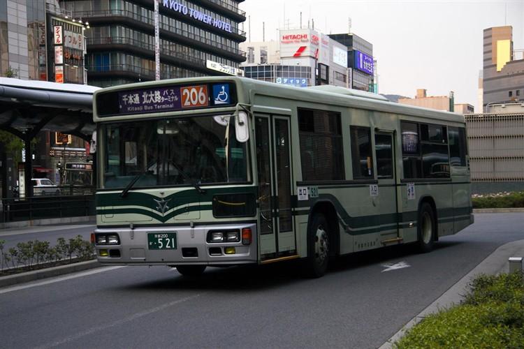 京都市バス 京都200か・521 日デKL-UA272KAM