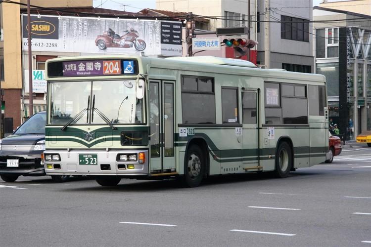 京都市バス 京都200か・523 日デKL-UA272KAM