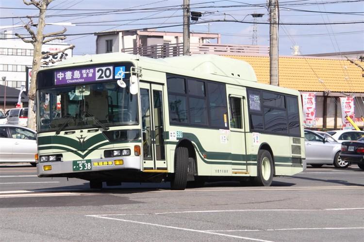 京都市バス 京都200か・538 三菱KL-MP37JK改(CNG車輌)