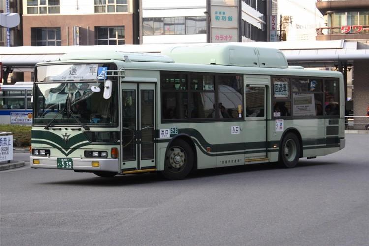 京都市バス 京都200か・539 三菱KL-MP37JK改(CNG車輌)