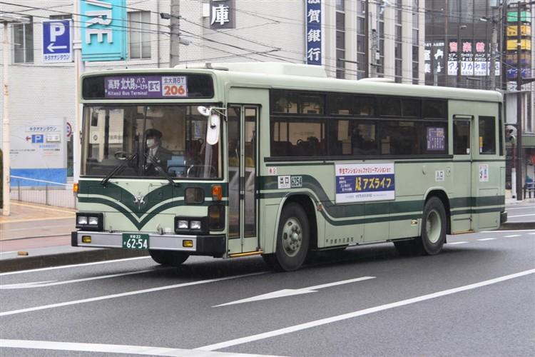 京都市交通局6254 日デKC-UA460HAN
